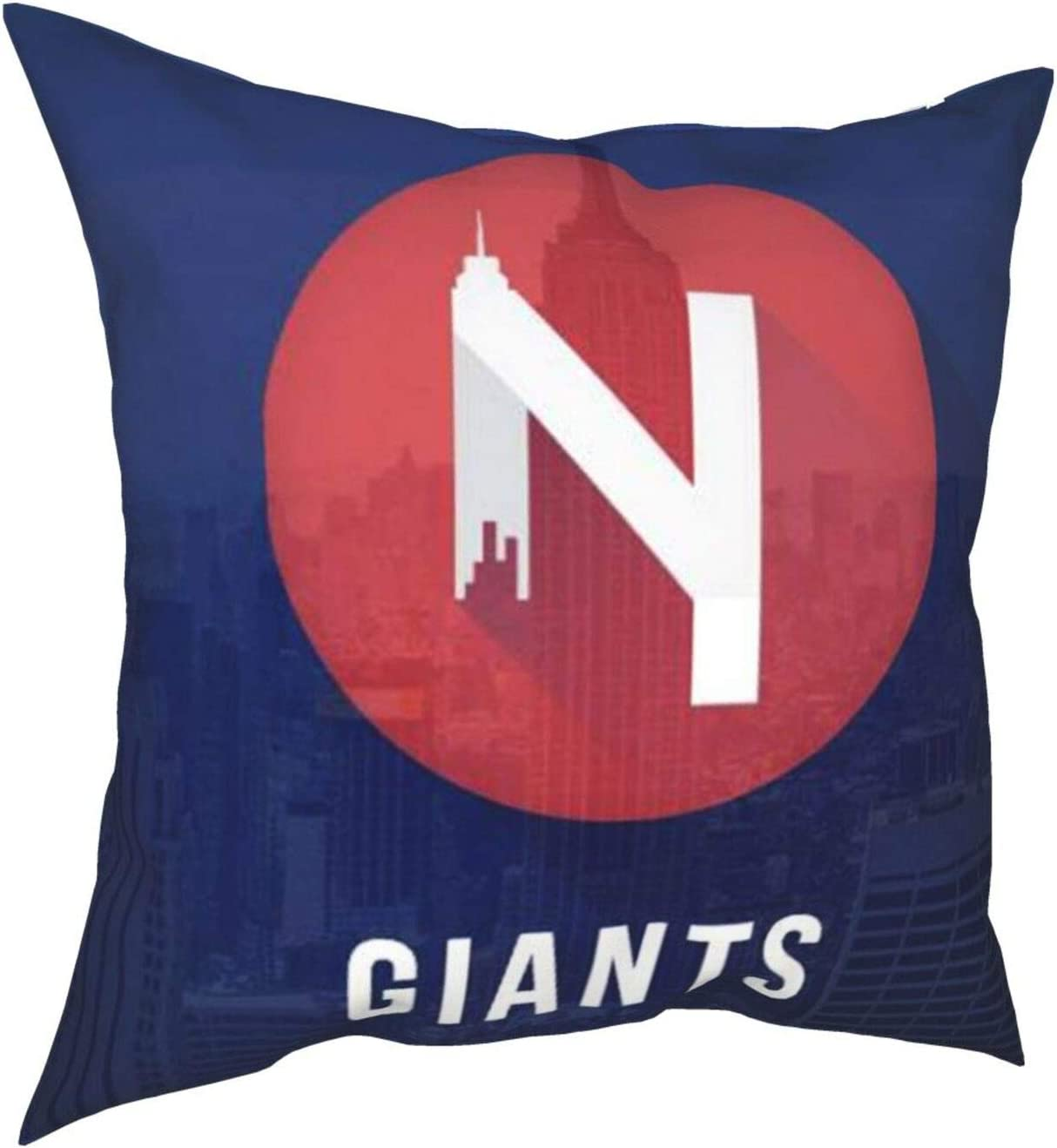 Myleiture Ny-Giants Throw Pillow Covers Cushion Cover Square Pillowcase for Home Decorative Couch Sofa Bedroom Office Car