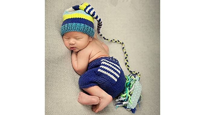 Newborn Baby Girls Boy Crochet Knit Costume Photo Photography Prop Outfit Tiger
