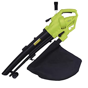 Electric Leaf Blower Vacuum 3000W Shred Leaves Tool w// Large Bag for Garden Lawn