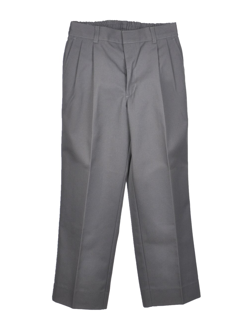 Rifle Boys Pleated Pants (Husky Sizes) - gray, 29h