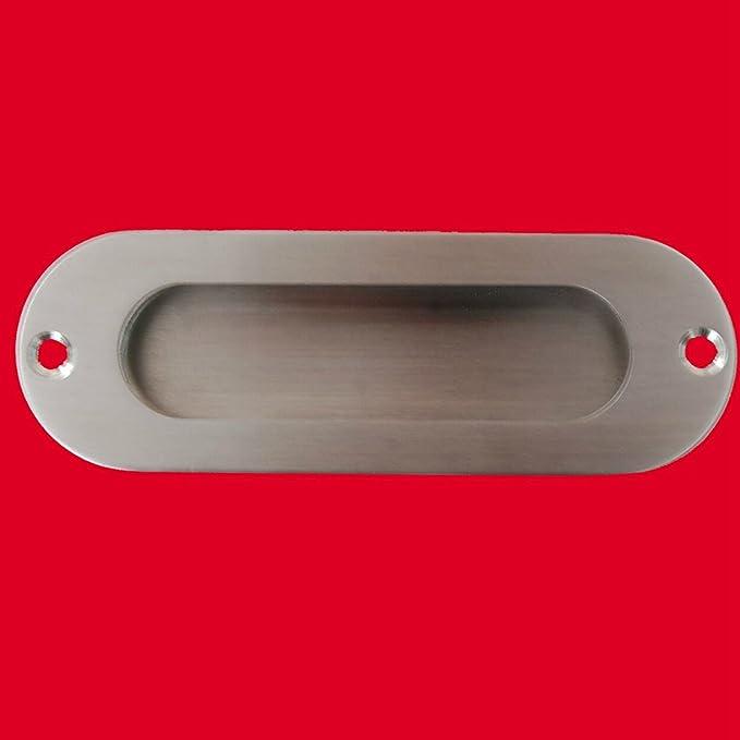 WOVELOT 1pz Tirador de puerta de corredera empotrada al ras fijo de cara rectangular Acero inoxidable: Amazon.es: Bricolaje y herramientas