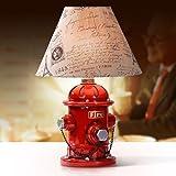 HOUSE@LOFT Tischleuchte Kreative rot Tischleuchte Amerikanische Industrielle Wind Tischleuchte Tischleuchte Fire hydrant Nachttischlampe Schlafzimmer Dekorationen Ornamente