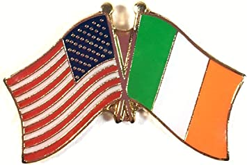 US /& Ireland Pin US and Ireland Flag Lapel Pin