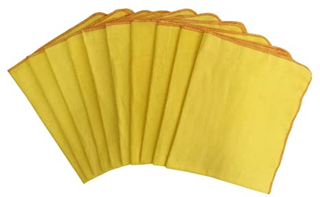 Amazon.com: Lushomes Super Soft Flannel Yellow Kitchen Towel ...