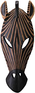 Accent Plus Zebra Mask Wall Plaque 5.25x2x14.25