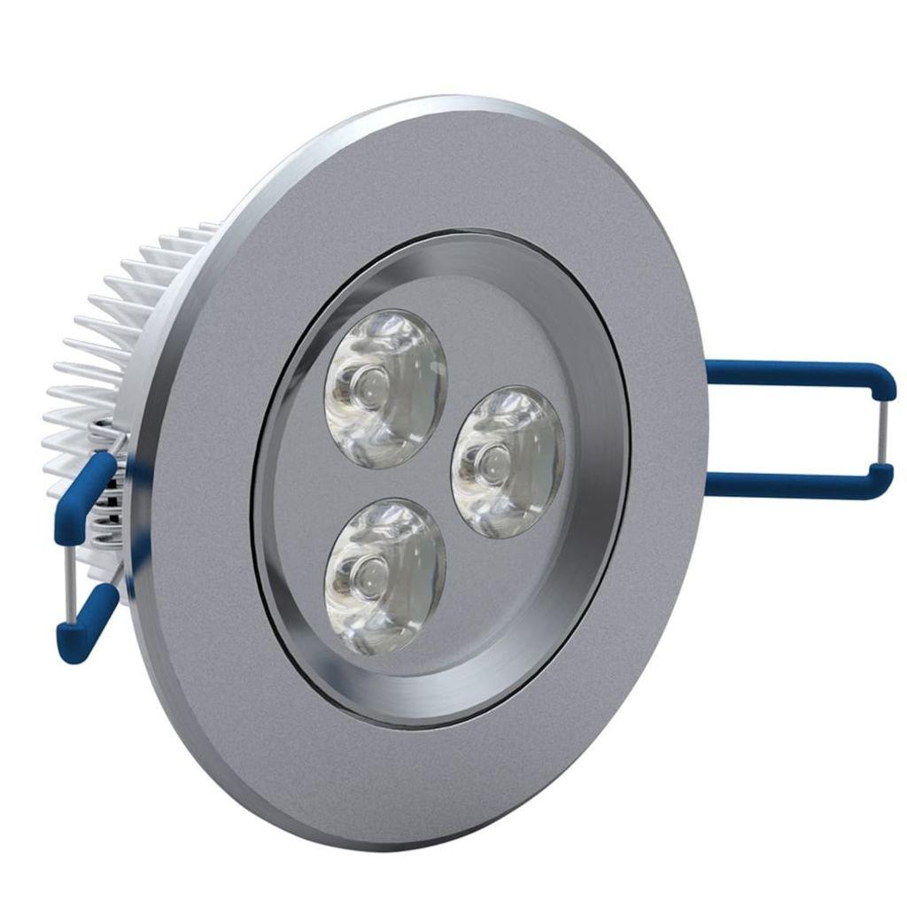 vidaXL 3x 3W LED Spot Einbauleuchte Warmweiß Einbau Strahler Set ...