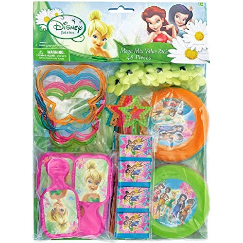 (Disney Tinkerbell Assorted Birthday Party Favour Value Pack (48 Pack), Multi)