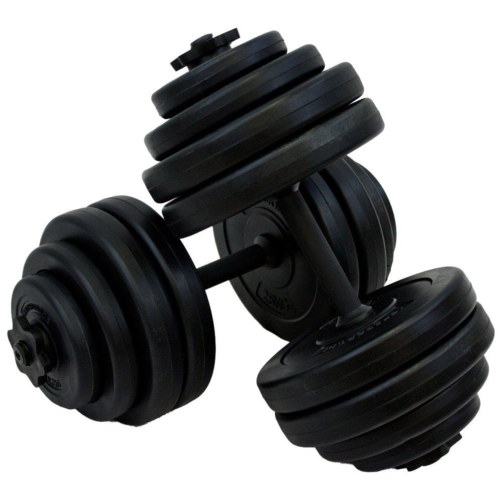 Elegante set de pesas (30 kg mancuernas con pesas y agarraderas ...