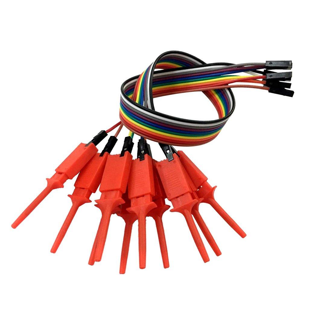 2 Pieces 10 Channels Logic Analyzer Cable Probe Test Hook Clip Line