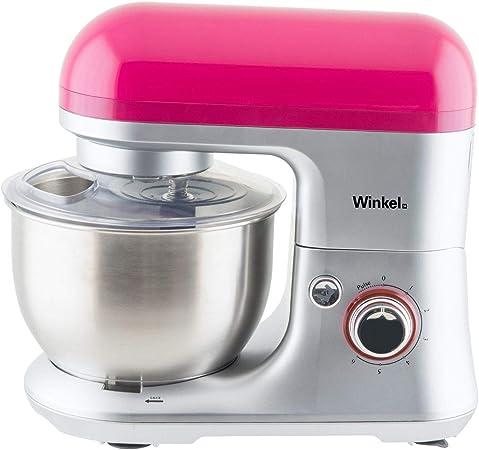 Winkel RX60 Robot de cocina multifunción, batidora amasadora, 650 W, Rosa: Amazon.es: Hogar