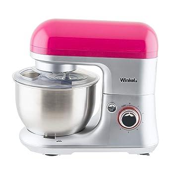 Winkel RX60 - Robot de cocina multifunción, batidora amasadora, 650 W, color rosa: Amazon.es: Hogar