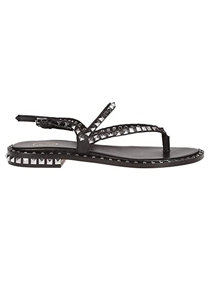 bf144290507a Ash Women s PEPS03 Black Leather Sandals  Amazon.co.uk  Shoes   Bags