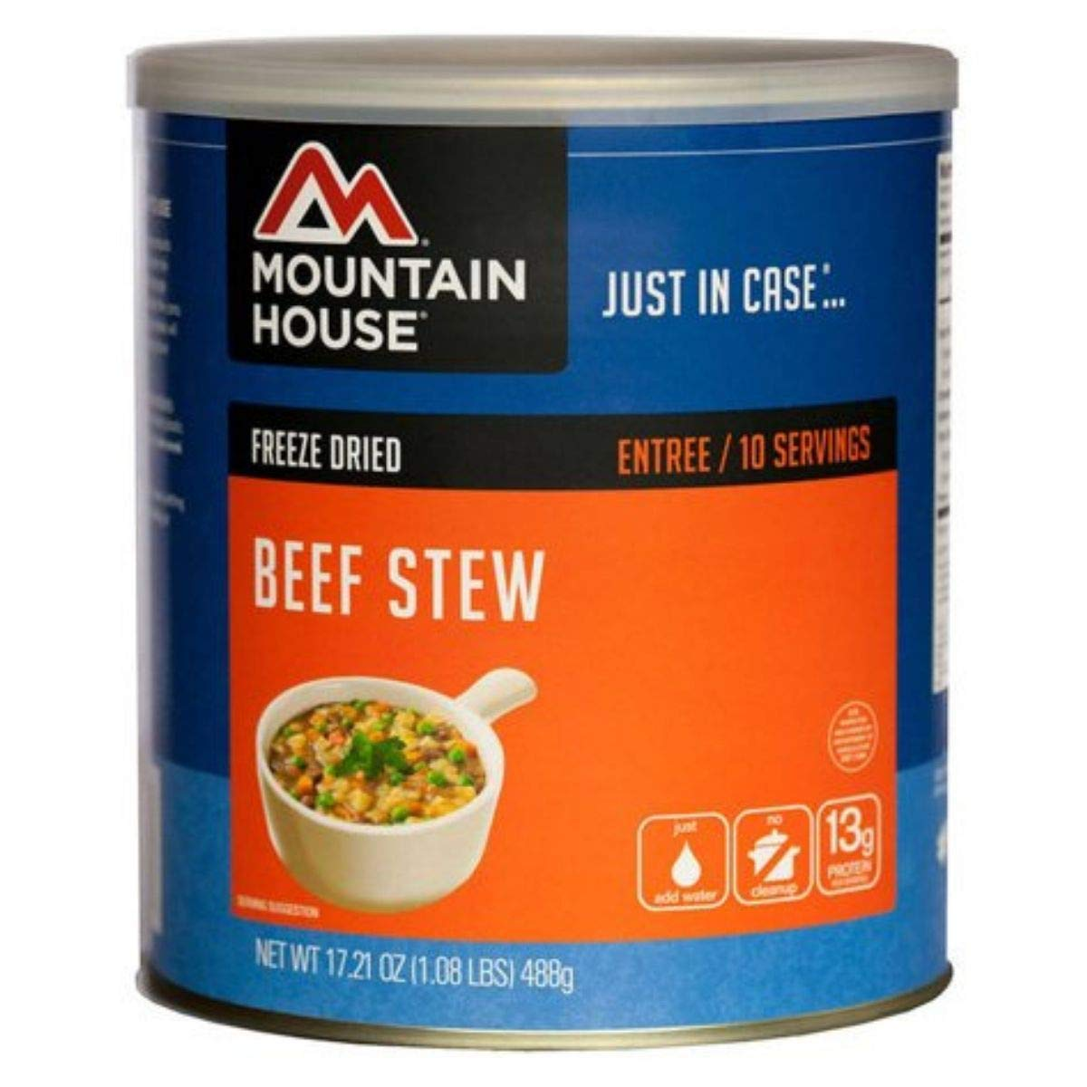 Mountain House Freeze Dried Beef Stew Can (Pack of 2) by Mountain House