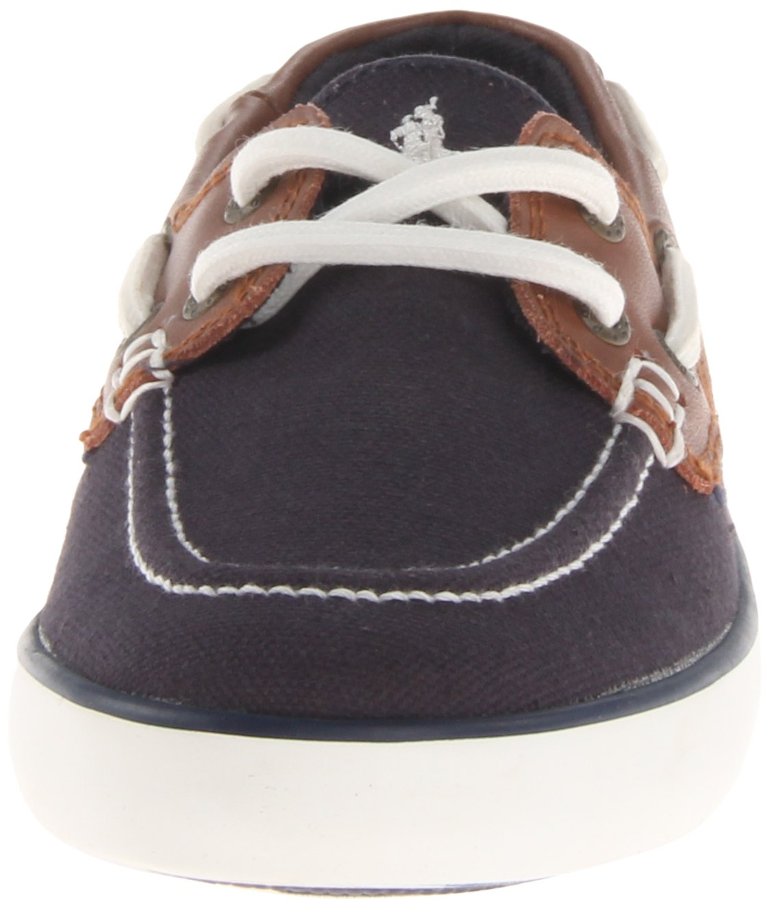 Polo Ralph Lauren Kids Sander-CL Sneaker (Toddler/Little Kid/Big Kid),Navy/Tan,5.5 M US Big Kid by Polo Ralph Lauren (Image #4)
