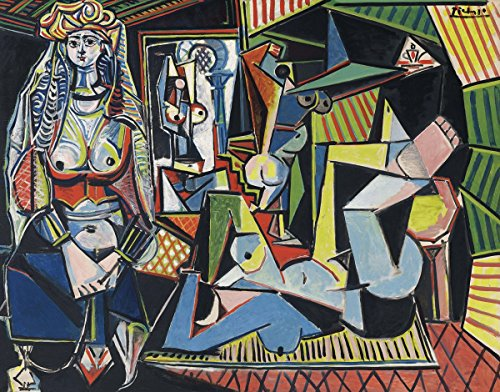 Pablo Picasso Abstract Art (Pablo Picasso - Women of Algiers, Size 24x32 inch, Poster art print wall décor)