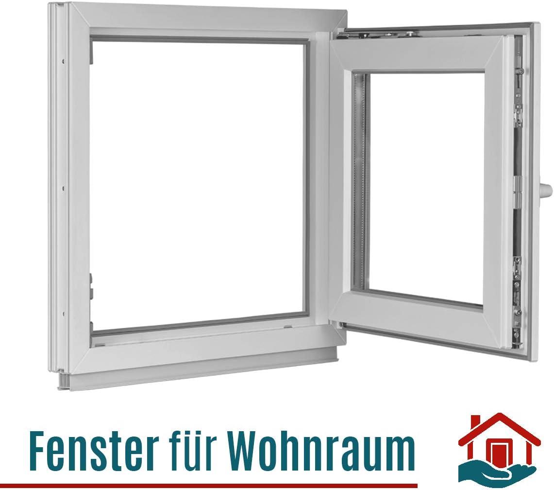 Dreh-Kipp ALLE GR/Ö/ßEN - Fenster wei/ß 2 fach Verglasung BxH:105x95 cm DIN Rechts Premium PVC Kellerfenster Kunststoff