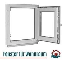 DIN links wei/ß Kellerfenster BxH: 65 x 45 cm Fenster Lagerware Kunststoff 2-fach-Verglasung