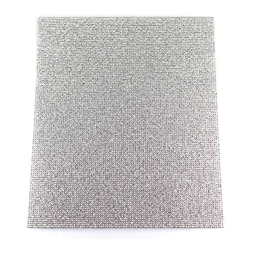 (ACESTRASS Premium Self Adhesive Rhinestone Sheet Crystal Sticker for DIY Car Shoes Decoration(Silver, 8.7 x 7.9