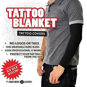 Amazon.com: Tattoo Cover Arm Sleeve TattooBlanket, 2 Black Sleeves ...
