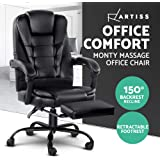 Artiss Massage Office Chairs Electric Recliner Computer Office Chair Massage Gaming Seat with Footrest