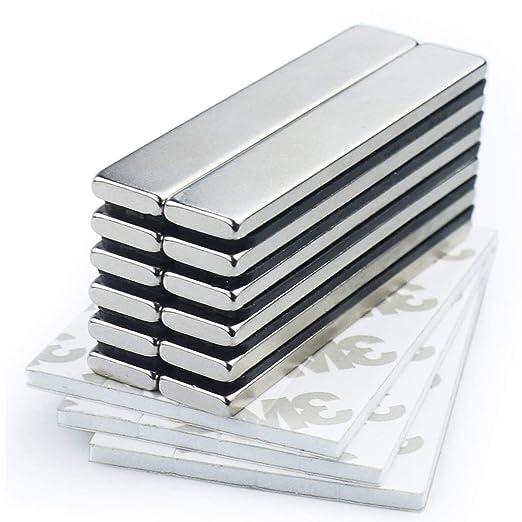 Imanes de barra de neodimio resistentes con adhesivo de doble cara ...