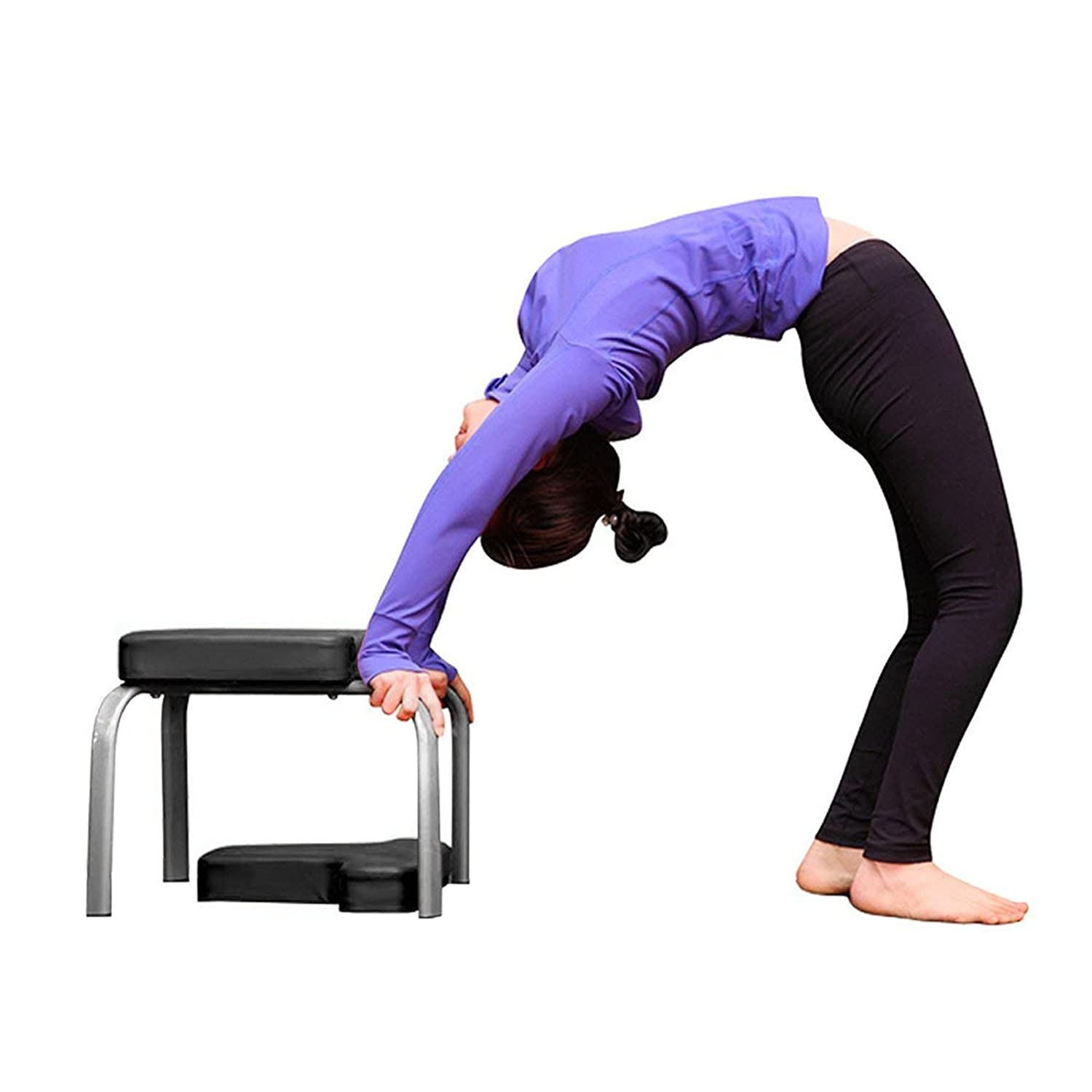 Popsport Headstand Bench Yoga Headstand Chair Balanced Body Headstand Bench for Practice Head Stand Shoulderstand Handstand and Various Yoga Poses