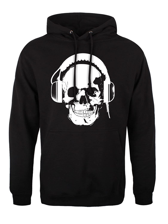 Totenkopfhöhrer Männer Pullover schwarz