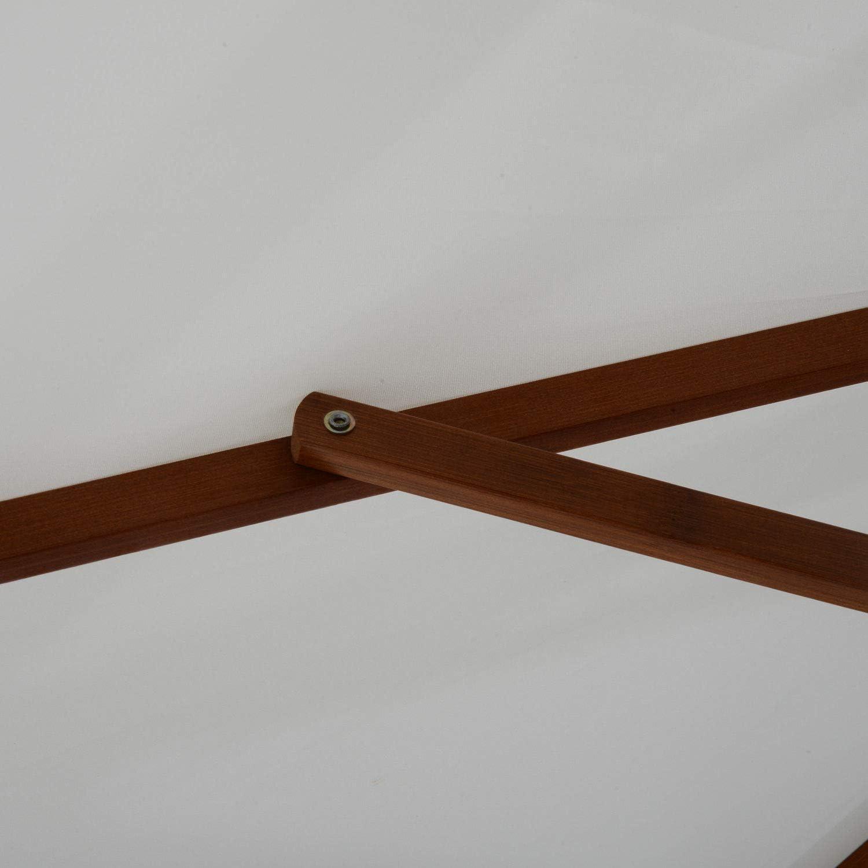 Impermeabile e Resistente ai Raggi UV /Φ270 x 250A cm Outsunny Ombrellone da Giardino con Palo Centrale in Legno Beige