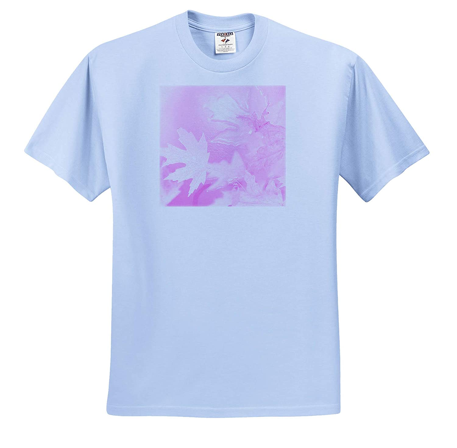 Nature an Abstract Photograph of Maple Leaves with an ICY Pink Affect 3dRose Stamp City - T-Shirts
