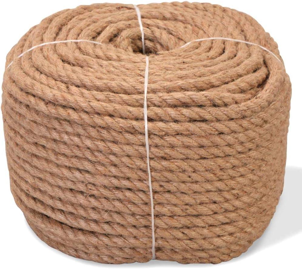 Seilwerk STANKE Corda In Fibra Di Juta Fibra Naturale Intrecciata Sartoriale In Canapa Juta Corda 46 mm 5 m