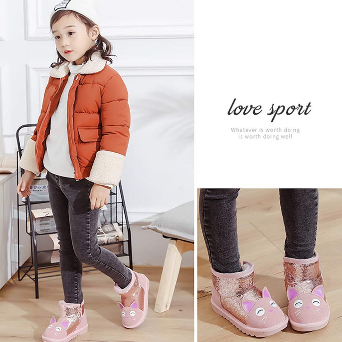 Toddler//Little Kids Baby Kids Boys Girls Winter Warm Fur Ling Slip-on Boots Shoes
