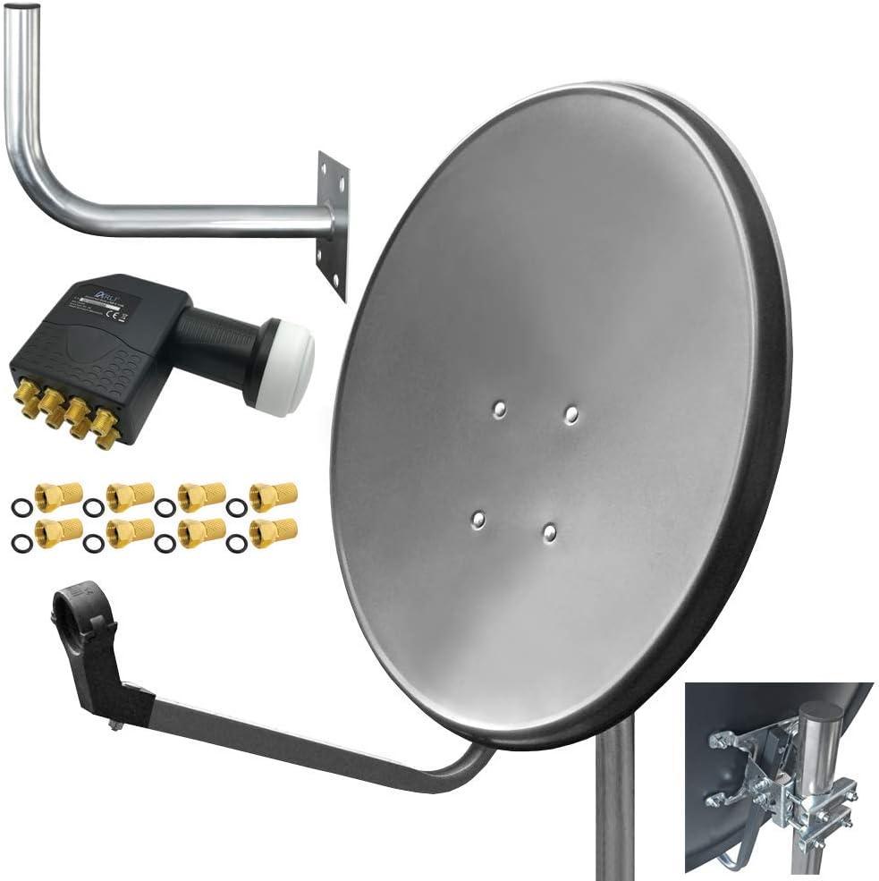 Arli - Antena para satélite HD (80 cm, UHD, Digital, con ...