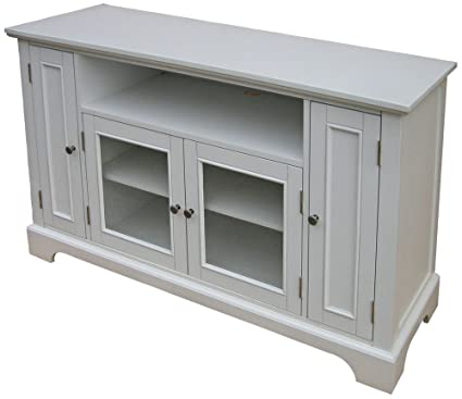 Home Styles 5530 10 Naples Entertainment Credenza, White Finish