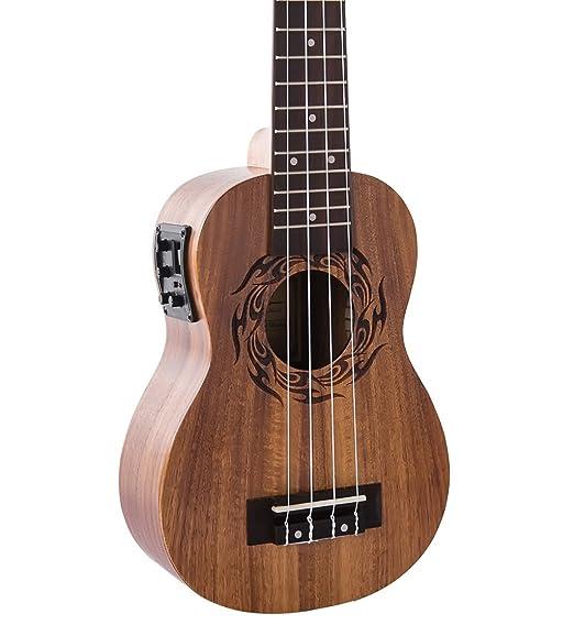 Caramelo CS200 madera de acacia parte superior Soprano acústica ukelele eléctrico: Amazon.es: Instrumentos musicales