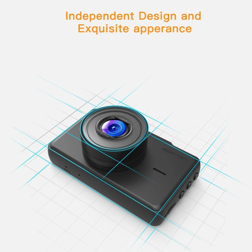 Loop Recording WDR Parking Monitor G-Sensor APEMAN Dash Cam 1080P FHD DVR Car Driving Recorder 3 Inch LCD Screen 170/° Wide Angle Motion Detection