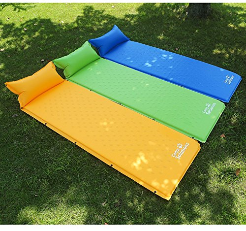 Camping Solutions Self Inflating Sleeping Pad With Pillow