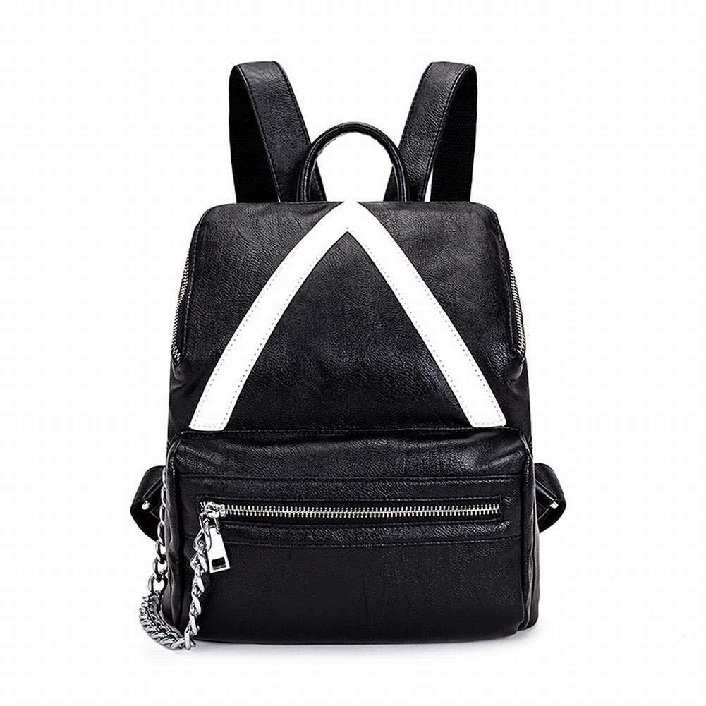 Black MKG Creative Fashion Multi-Function Shoulder Bag Female Bag Female Student Backpack Casual Shoulder Bag for Women