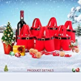 Christmas Santa Pants Gift and Treat Bag Holiday Candy Basket Wine Bottle Totes Gift Wrap For Wedding (Small, 6pcs)