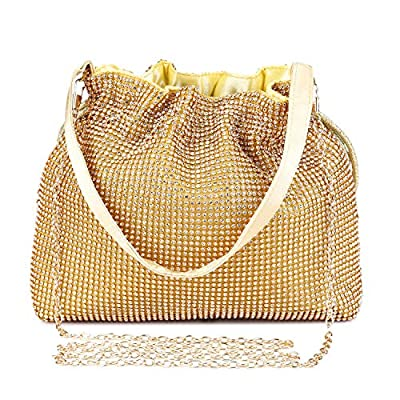UBORSE Women's Bling Crystal Rhinestone Evening Clutch Prom Party Handbag Wedding Purse