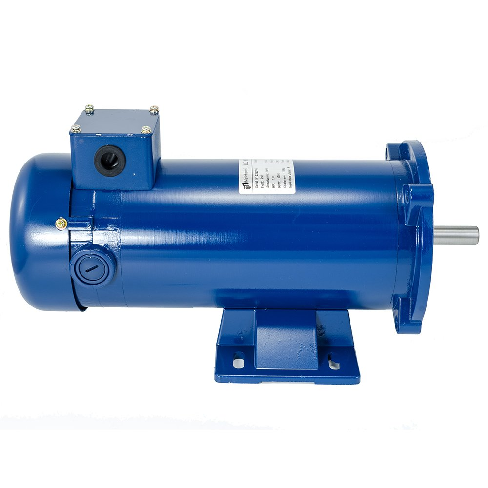 iMeshbean DC Motor, 1HP, 56C, 90VDC, 1800RPM, TEFC, with Removable Base