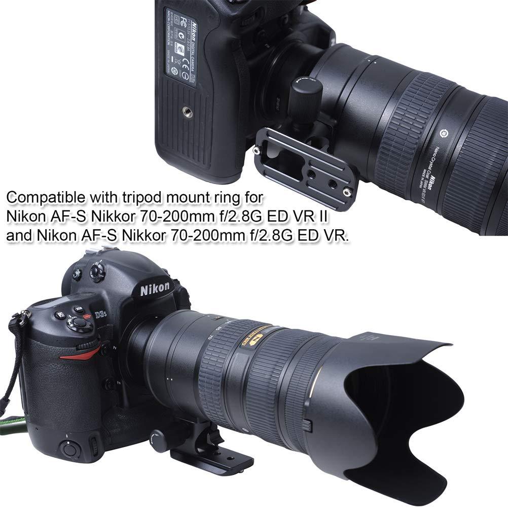Objektiv Ersatz Fuss für Nikon 200-400mm F4 VR /& VRII AF-S 400mm F2.8 fit Arca
