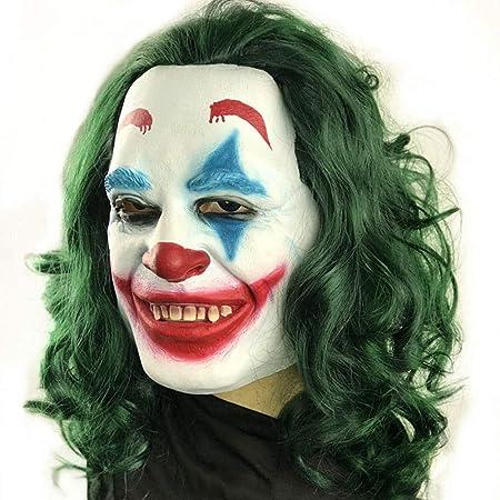 Hjd Wig Máscara de Payaso Horrible de látex Natural Peluca Fiesta de Halloween Cosplay Disfraz Prop Lady Wig: Amazon.es: Hogar