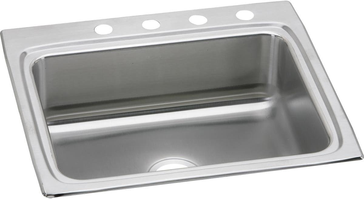 Elkay Lustertone Classic LR25225 Single Bowl Drop-in Stainless Steel Sink