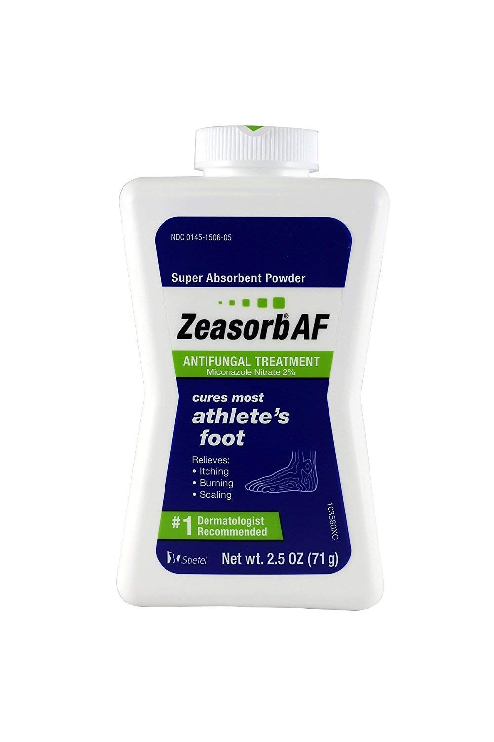 Zeasorb Super Absorbent Powder Antifungal Treatment, Athlete's Foot 2.5 oz (71 g)(Pack of 6) by Stiefel Labs