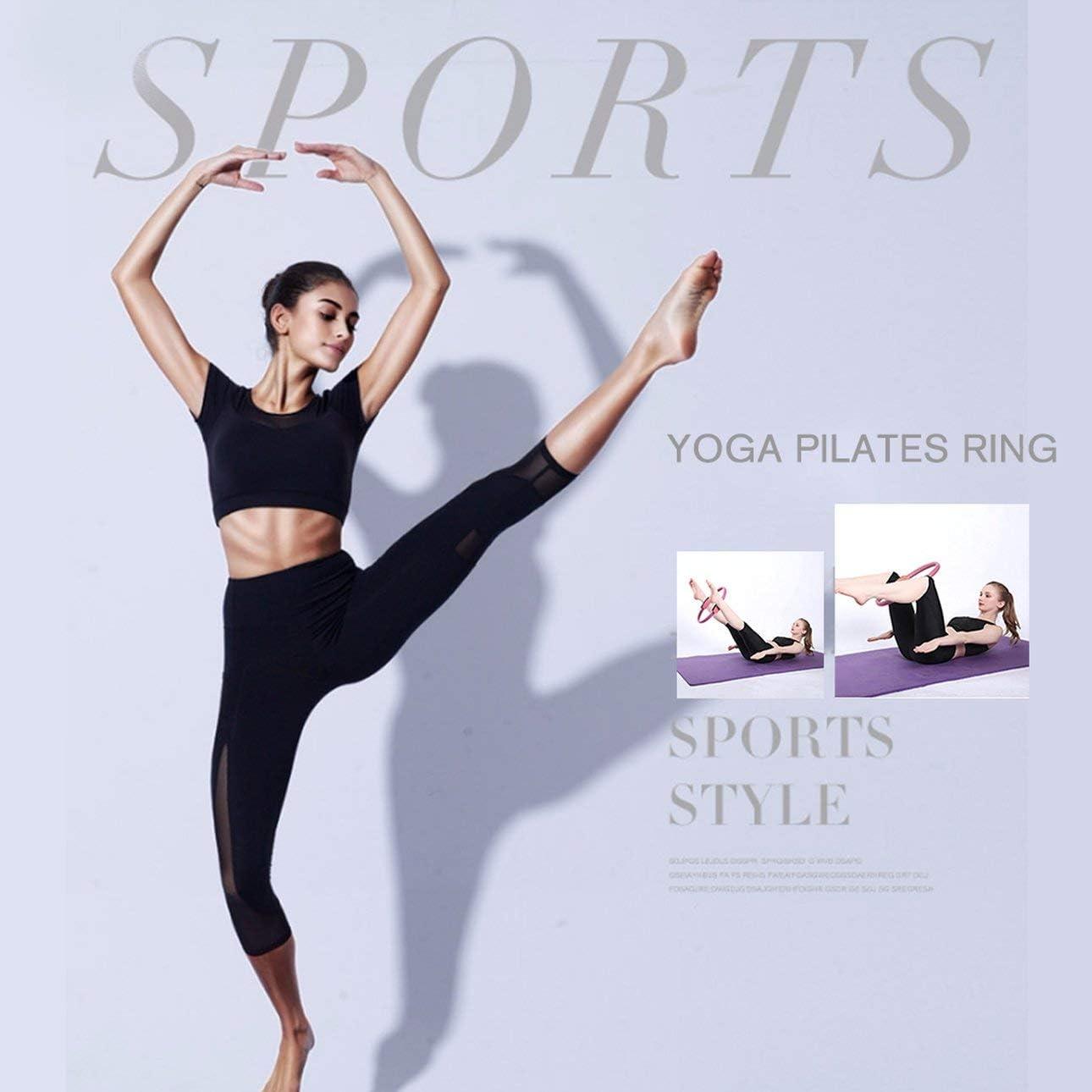 Ballylelly Professionelle Fitness Magic Wrap Yoga Pilates Ring Abnehmen Bodybuilding Training Yoga Circle Gym Workout Training Tool