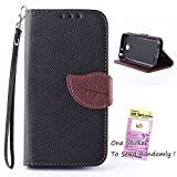 LG Optimus L90 Case , Leathlux Leaf Magnetic Style PU Leather Flip Case Cover For LG Optimus L90 / D415 / D405 Black