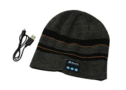 5057bd8467d Aweek® Bluetooth Hat Knitted Winter beanie Hat Music mp3 Bluetooth Speaker  Hat Women Men