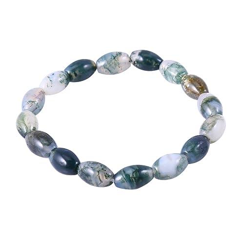 534dc4d56f34 Pulsera con ágata verde piedra natural y pura hecha a mano Strand pulseras  ca824  Qitian  Amazon.es  Joyería