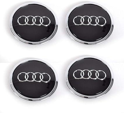 4 tapacubos de 69 mm para llfe, con Emblema de Audi, tamaño A3, A4, A5, A6, A7, S3, S4 y S5, Color Negro: Amazon.es: Coche y moto