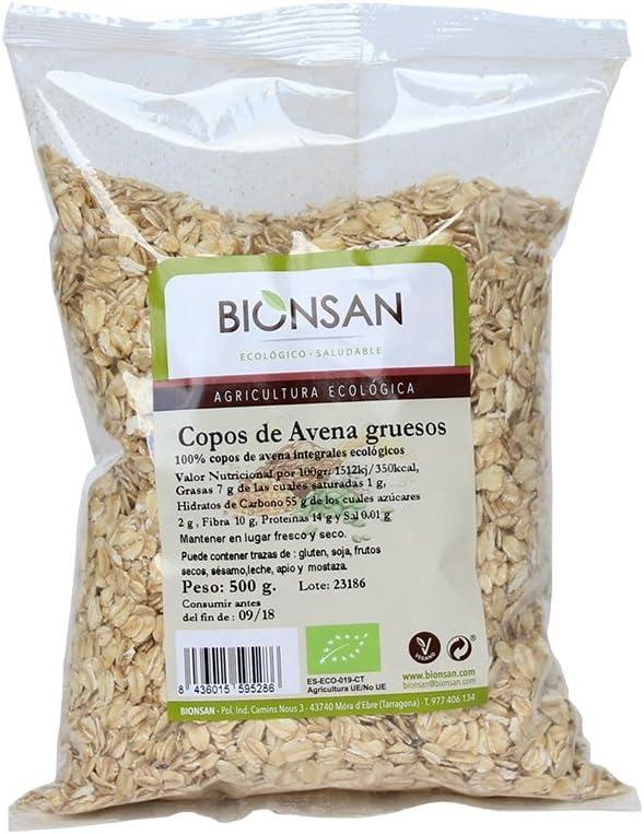Bionsan Copos de Avena Ecológica Gruesos | 4 Paquetes de 500 gr ...
